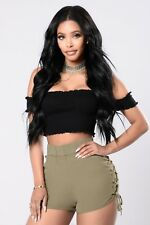 414cde3456a354 item 1 FASHION NOVA INSPIRED PLAIN SOLID SMOCKING OFF SHOULDER CROP TOP  CASUAL SEXY -FASHION NOVA INSPIRED PLAIN SOLID SMOCKING OFF SHOULDER CROP  TOP CASUAL ...
