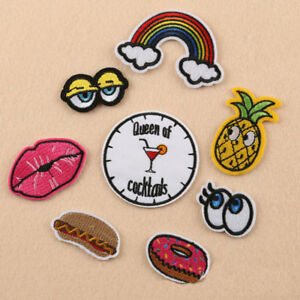 8Pcs-Embroidery-Sew-Iron-On-Patch-Badge-Fabric-Clothes-Applique-Craft-Transfer