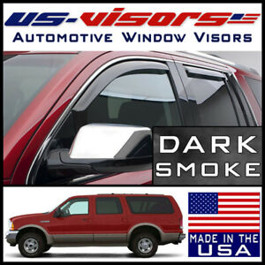 Us Visors 2000 2006 Ford Excursion In Channel Window Vent Visors Rain Guards Ebay