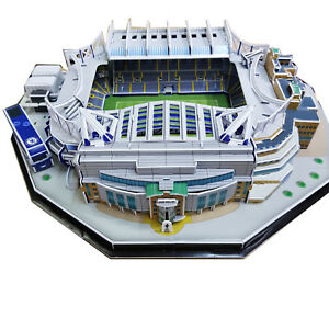 3D Chelsea FC Replica Stamford Bridge Football Stadium Puzzle - 160 Pieces Gift