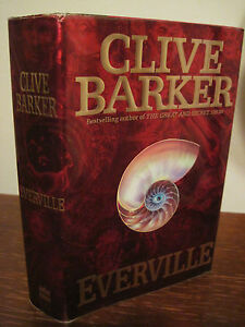 1st-Edition-EVERVILLE-Clive-Barker-SCI-FI-Fantasy-HORROR-Thriller-First-Printing