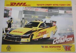 2016 Del Worsham Dhl Toyota Camry Funny Car Nhra Postcard Ebay