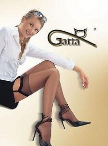 Bas Sexy Fin Nylon Pour Portejarretelles Femme Gatta Calze Den - Femme en porte jarretelle