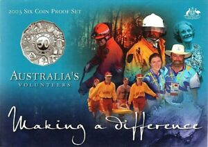 2003-SIX-COIN-PROOF-SET-AUSTRALIA-039-S-VOLUNTEERS-MAKING-A-DIFFERENCE