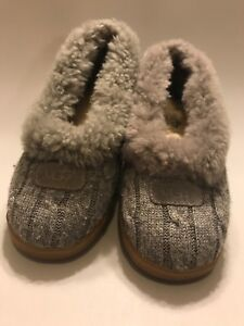 0b34349253f Details about UGG Australia Size 5 Women's Gray Rylan Knit Slipper Shoe