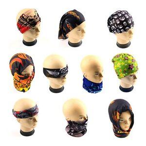 Cool Head Face Mask Multi Wear Cotton Tube Bandana Durag Biker