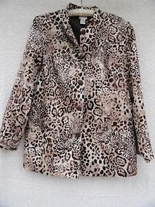 L Chico Chicos Xl Bomuld Tan Polyforet jakke Sz Hvidbrun Leopard savner 2 EZzZr