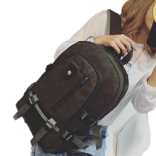 Men/'s Vintage Canvas Rucksack Satchel School Backpack Shoulder Travel Hiking Bag
