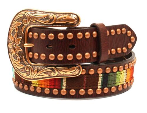 Ariat Western Womens Belt Leather Serape Cooper Studs Multicolor Brown A1526097
