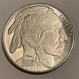 Liberty-Indian-Head-Buffalo-2015-USA-Silver-1-troy-oz-999-Fine-Silver-Round-HM