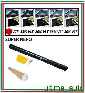 PROFESSIONALE-ANTIGRAFFIO-PELLICOLA-OSCURANTE-VETRI-AUTO-NERO-5-76cm-x-3m