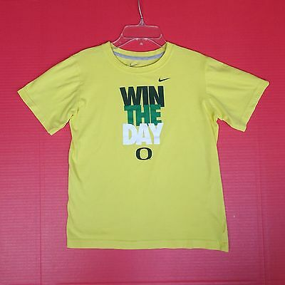 Nike Youth M 10 12 Nike Oregon Ducks Yellow T-Shirt Win The Day Tee Shirt NCAA