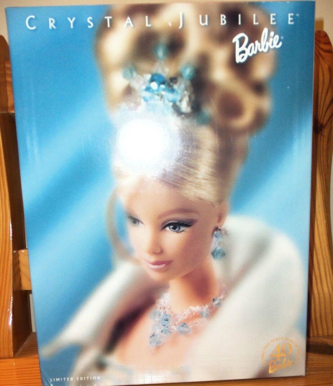 Barbie 40th Aniversario Muñeca Barbie Jubileo de cristal con Cargador 1999 nunca quitado de la Caja Nuevo