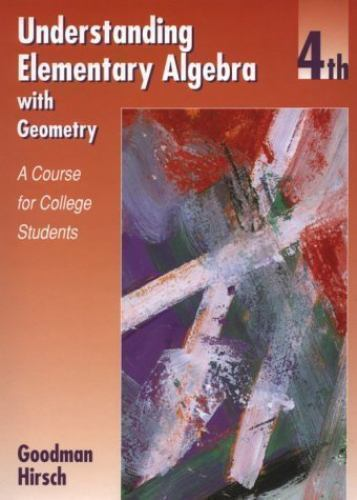 Understanding Elementary Algebra with Geometry : A Course for College...