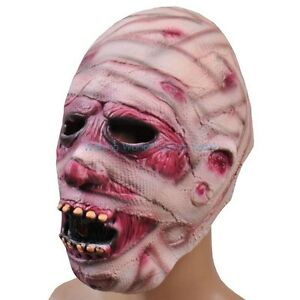 Halloween-Scary-Creepy-Mummy-Zombie-Face-Head-Mask-Latex-Mask-Costume-Party-Toys