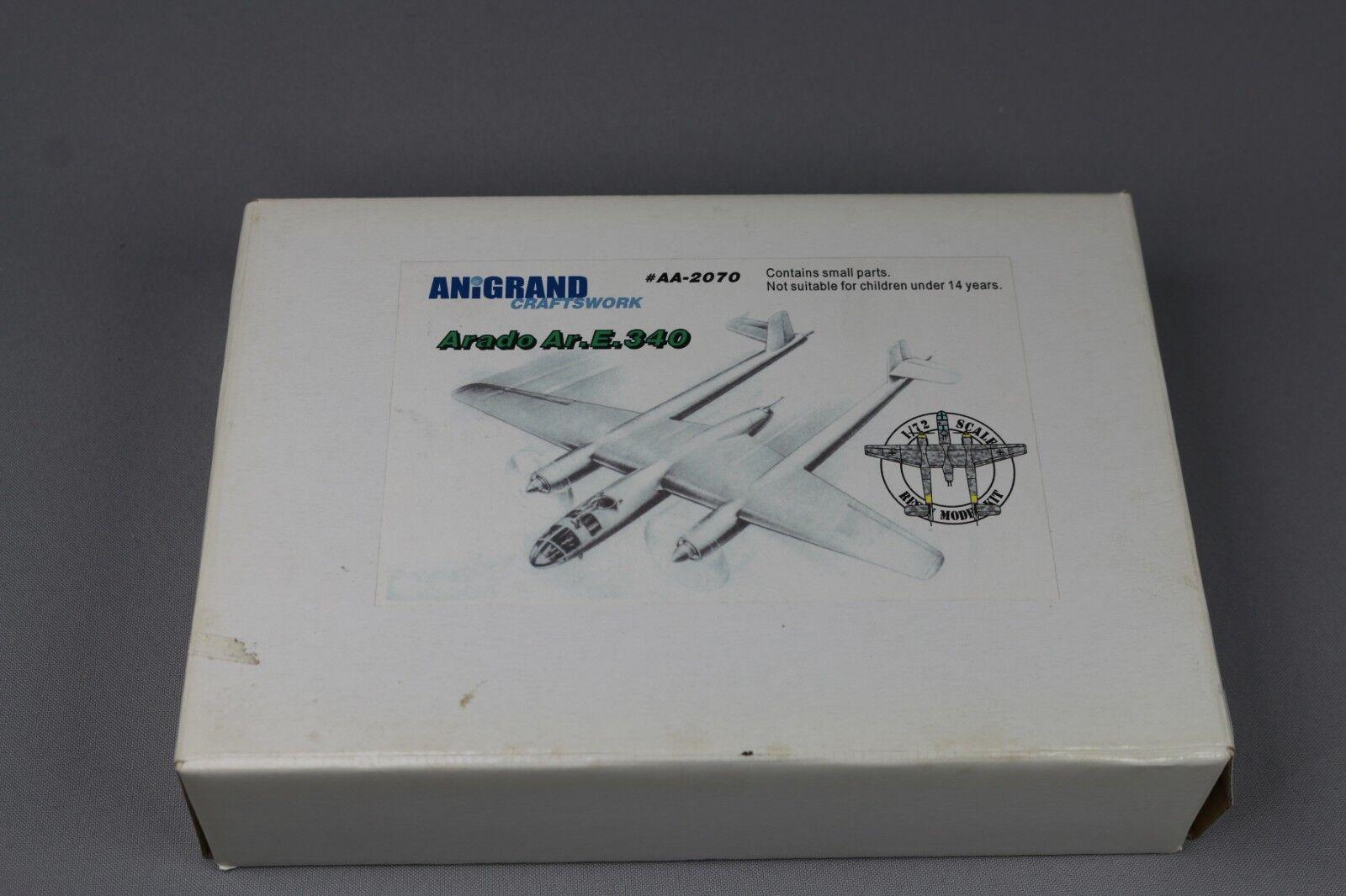 ZF847 Anigrand 1 72 maquette avion AA-2070 Arado Ar.E.340 Resin Model Kit