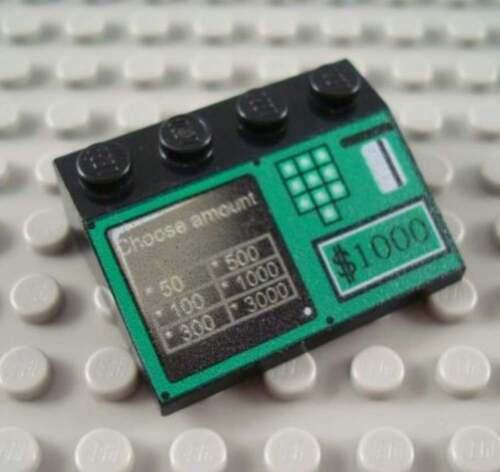LEGO Black 3x4 Cash Register Decorated Slope
