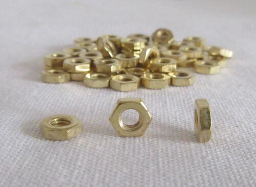 TRIX Metallbau 50 Stück Muttern M1