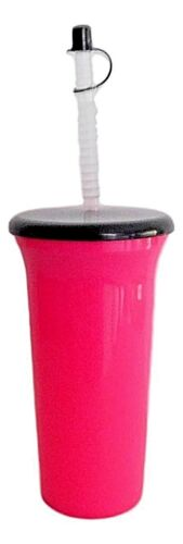 Purple 2-32 ounce America Made Lg Tumblers Lids Straws 1 ea Pink