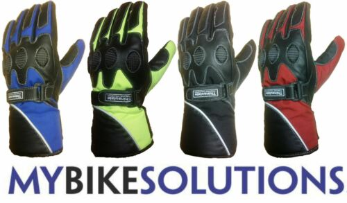 Motorcycle Bike Reflex Leather Textile Waterproof Touring soft knuckle Gloves