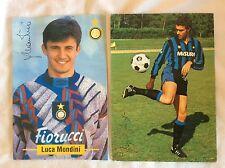 INTER FC. INTERNAZIONALE MONDINI BERGOMI CARTOLINE CALCIO UFFICIALI AUTOGRAFATE