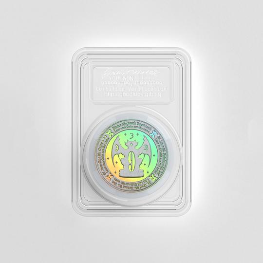 Drain Gang Bladee & Mechatok Lucky Coin (Silver)
