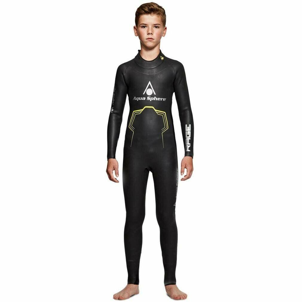 Neoprenanzug Kinder AQUA SPHERE Rage Wetsuit Triathlon Neu & OVP