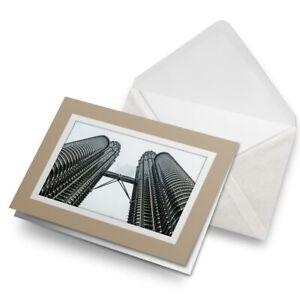 Greetings-Card-Biege-Petronas-Towers-Kuala-Lumpur-Malaysia-15754