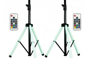 Remote American DJ CSL100 Color Stand LED Tripod Speaker Stand w//Color LED/'s