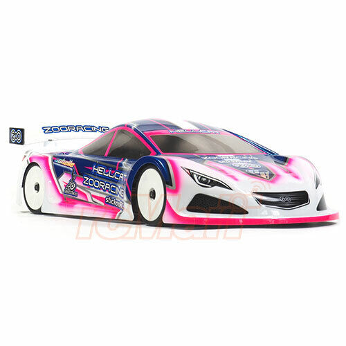 Zoo Racing HELLCAT 0.7mm Thick EPT 190mm Clear Body For 1//10 RC Car #ZR-0006-07