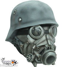 Deluxe Latex Overhead Chemical Warfare Scary Horror Halloween Costume Gas Mask