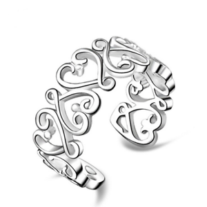 1Pcs-Women-925-Silver-Plated-Hollow-Out-Heart-Solid-Ring-Band-Adjustable-Jewelry