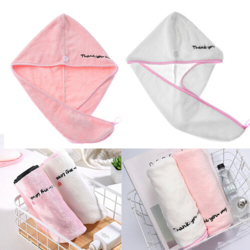 Makeup Cap Super Absorbent Microfiber Quick Drying Wrap Hat Dry Hair Hats