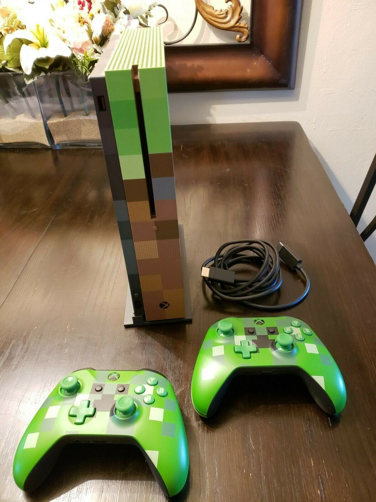 Microsoft Xbox One S Minecraft Limited Edition Bundle 11TB Green & Brown  Console