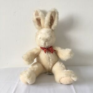 Marks-and-Spencer-M-amp-S-Cream-Bunny-Rabbit-Red-Bow-Tie-15-inch-Soft-Toy-8337-443