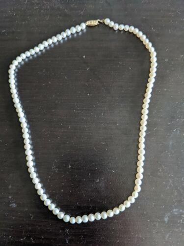 vintage genuine pearl necklace
