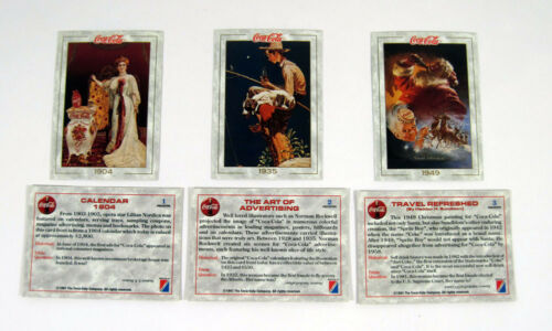 3 1993 Collect-A-Card The Coca-Cola Collection Series 1 Promo Card Set Nm//Mt