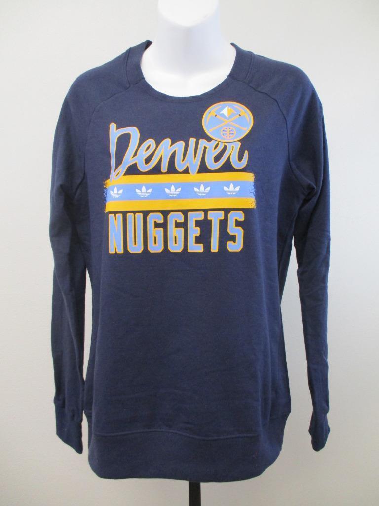 NUEVOS tallas para mujer de los Denver Nuggets M-L Adidas sudadera MSRP $ 55