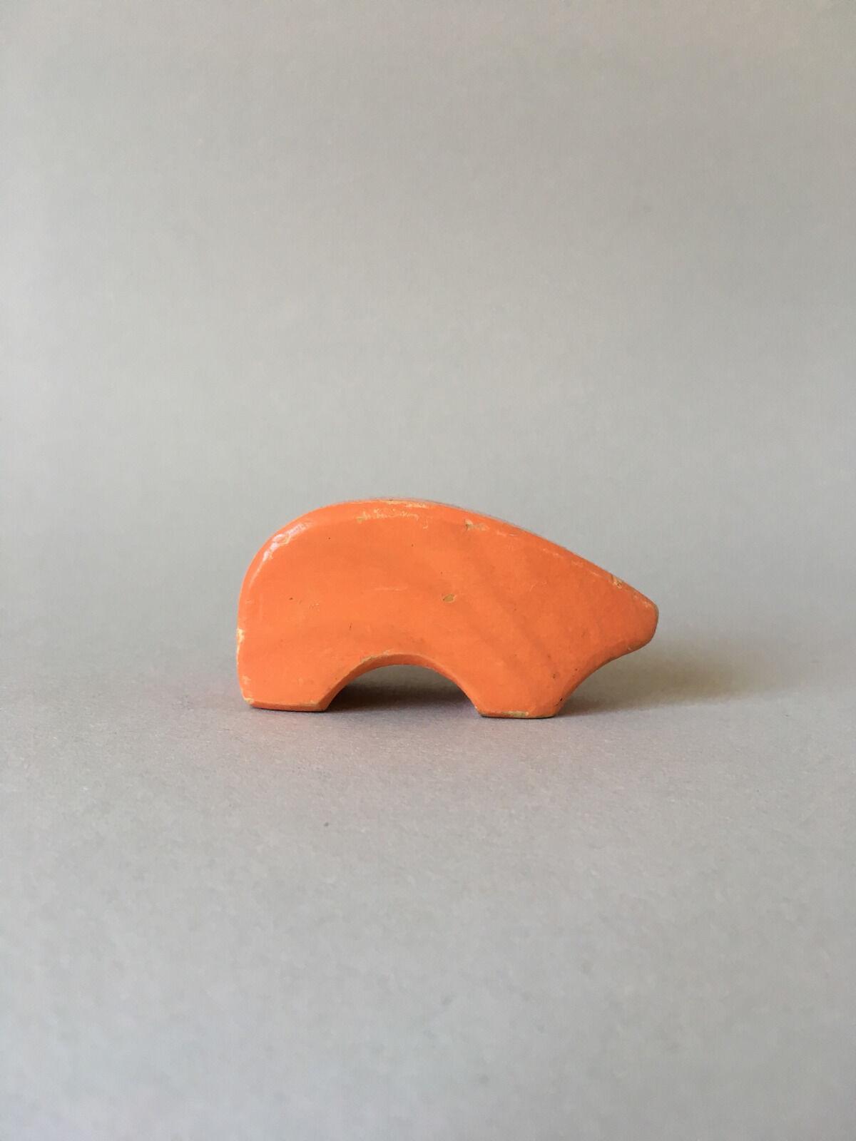 Antonio vitali hölzernen tier spielzeug schweinchen - jahrgang swiss design - sehr selten