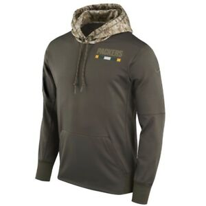 8163f21be63d60 GREEN BAY PACKERS Salute to Service Hoodie 2017 Nike NFL STS Mens L ...