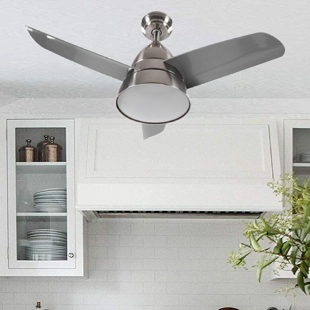 Decken Ventilator Lampe Kühler Heizer Glas Leuchte Windmaschine FERNBEDIENUNG