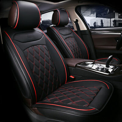 HONDA JAZZ ALL YEARS DELUXE RED PIPING CAR SEAT COVERS 1+1