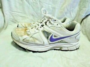 Estado desconcertado letal  NIKE DART 9 TRAINING / RUNNING SHOES -WHITE PURPLE ( SIZE 8.5 ) WOMEN`S |  eBay