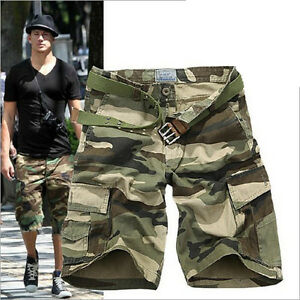 Fashion Men Camouflage Cargo Shorts Military Camo Combat Work ...