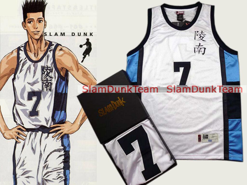 SLAM DUNK Cosplay Costume Ryonan School Basketball Sendoh Swingman Jersey WHT