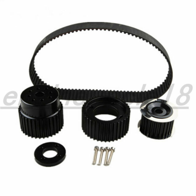 "For 12A 13B 20B 15mm RX7 FD FC RX3 Gilmer Drive Pulley Kit 1.5"" Notch Belt Black"