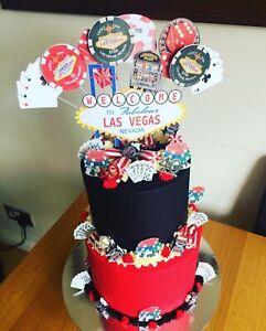 Marvelous Las Vegas Birthday Cake Topper In Pick Cards Chips Dice Etc Ebay Birthday Cards Printable Inklcafe Filternl