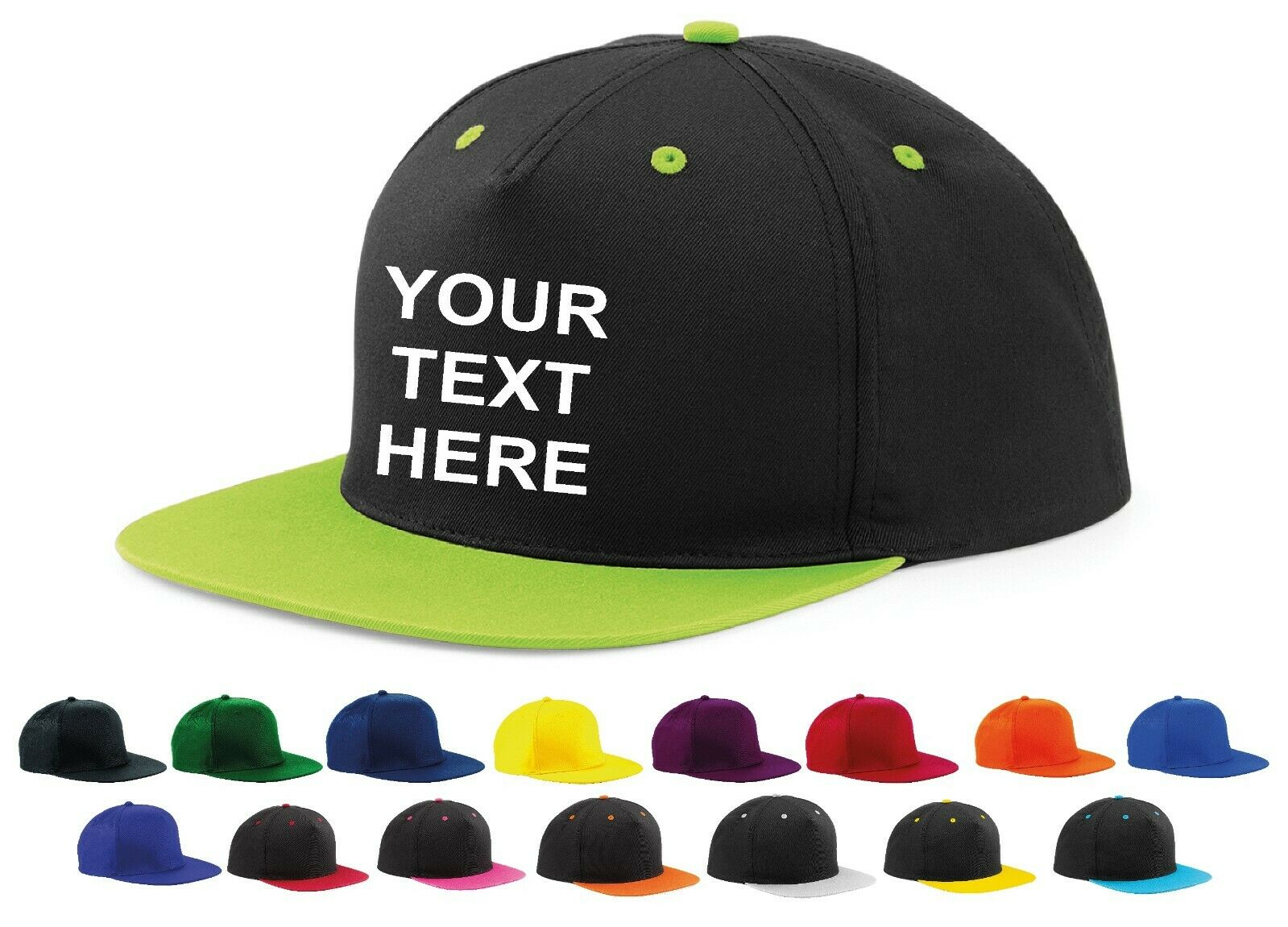 Personalised Embroidered Baseball Cap Teamwear Custom Printed Hat Mens Ladies