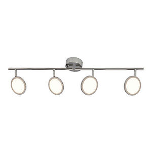 Endon Pluto Indoor 4 Bar Spot LED Light DIMMABLE polished chrome