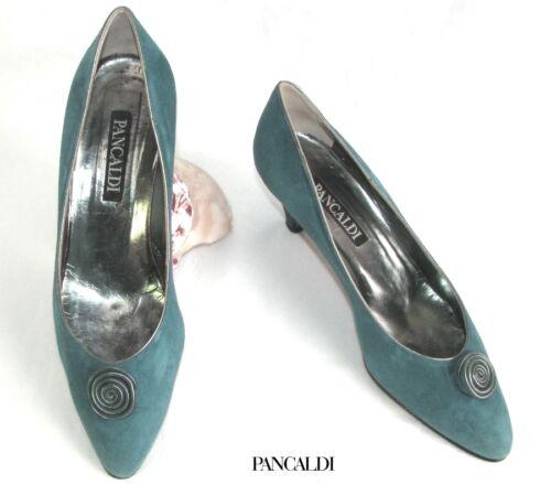 Buono Condizioni Blue 36 Leather 5 Pancaldi Molto All Pompe Velvet Vintage Green qwXPHzZ